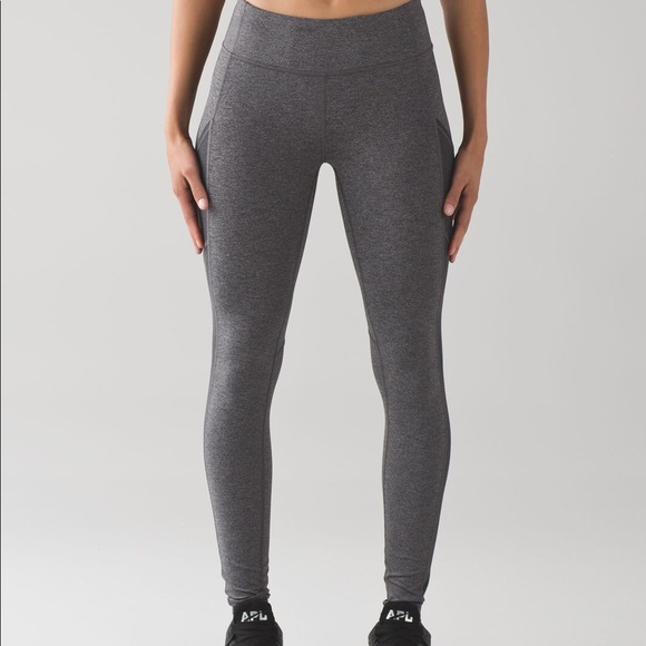b7beae7577 lululemon athletica Pants | Lululemon Speed Tight V Heathered Black ...